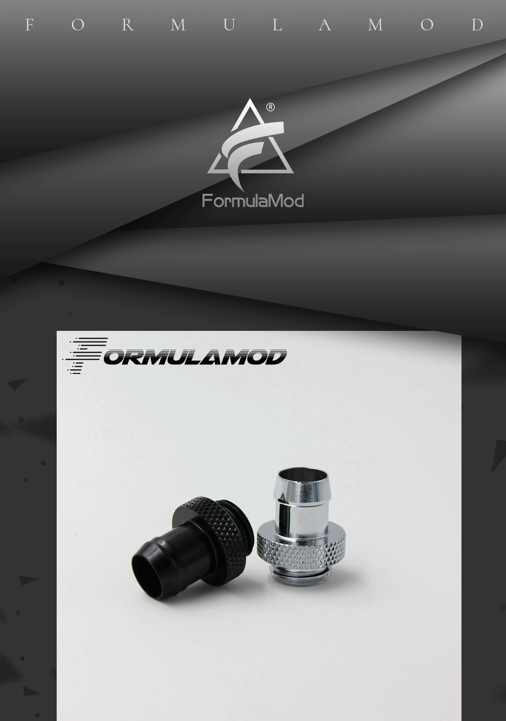"FormulaMod Fm-3FBT, 3/8""ID*1/2""OD(10x13mm) & 3/8""ID*5/8""OD(10x16mm) Soft Tube Barb Fittings, G1/4"" Fittings For Soft Tubes"