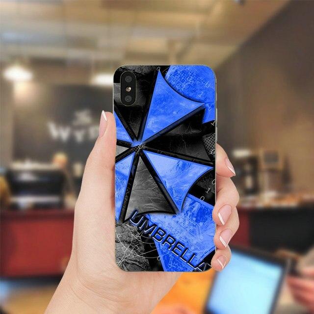 Téléphone souple en Silicone étui pour iphone X XR XS 11 Pro Max 10 7 6 6s 8 Plus 4 4S 5 5S SE 5C parapluie Corporation