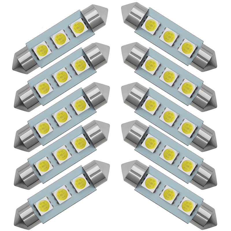 MAZDA 36MM 3 SMD LED Festoon Dome Light Lamp Bulb