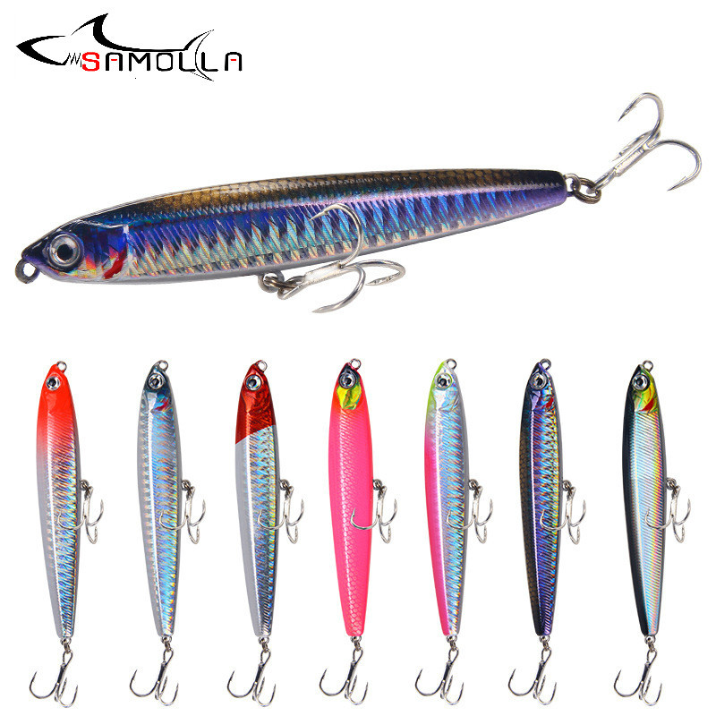 Pencil Sinking Fishing Lure Weights 10-24g Bass Fishing Tackle Fishing Accessories Saltwater Lures Fish Bait Trolling Lure