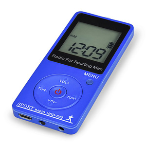 Image 5 - 휴대용 스포츠 라디오 미니 FM AM 라디오 수신기 스테레오 이어폰 백라이트와 큰 LCD 디스플레이 이어폰과 단계 계산 라디오