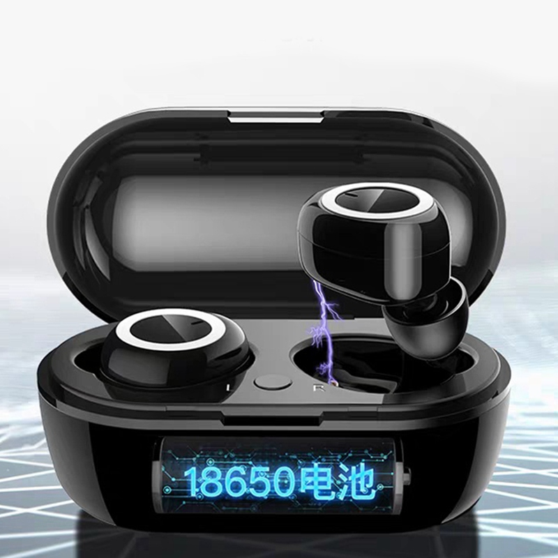 GT1 TWS Fingerprint Touch Bluetooth Earphones HD Stereo Wireless HeadphonesNoise Cancelling Gaming Headset