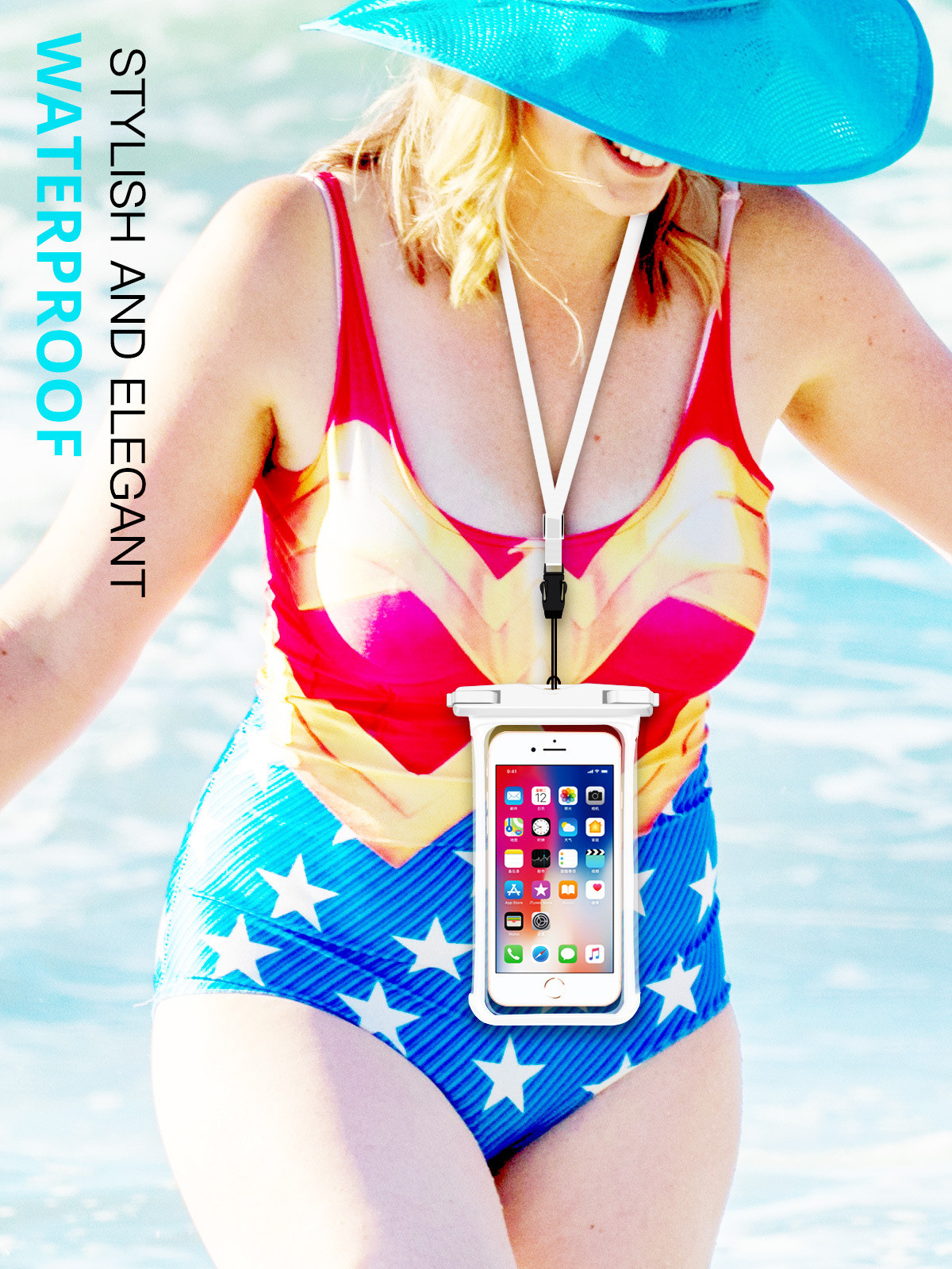 H4ab832eeb0124721809e7d7b617f3839P - Full View Waterproof Swimming Pouch Case for Phone Underwater Snow Rainforest Transparent Dry Bag Big Mobile Phone Bag Sealed