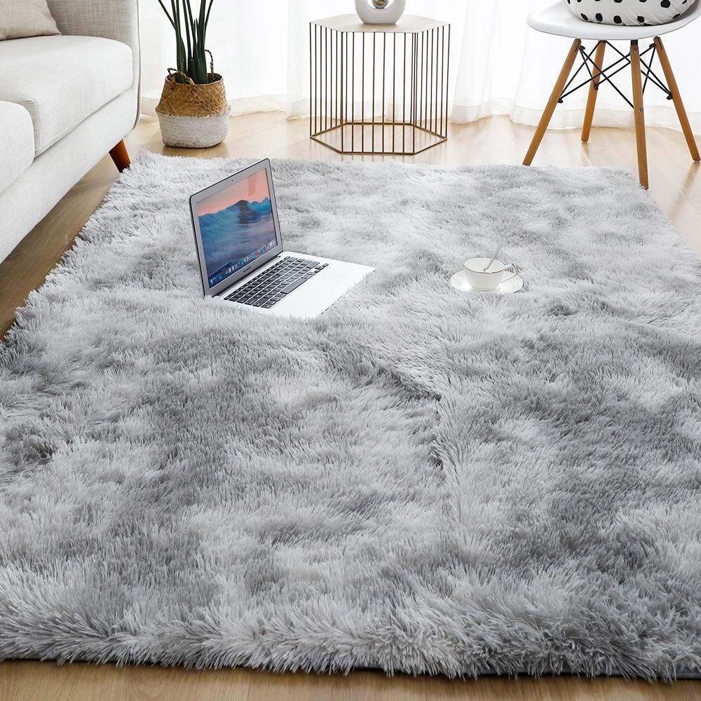 Толстый ковер для гостиной плюшевый ковер дет пушистый напольный ковры окна прикроватный коврик для домашнего интерьера мягкий бархатный ...