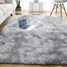 Dicken Teppich für Wohnzimmer Plüsch Teppich Kinder Bett Zimmer Flauschigen Boden Teppiche Fenster Nacht Wohnkultur Teppiche Weiche Samt matte