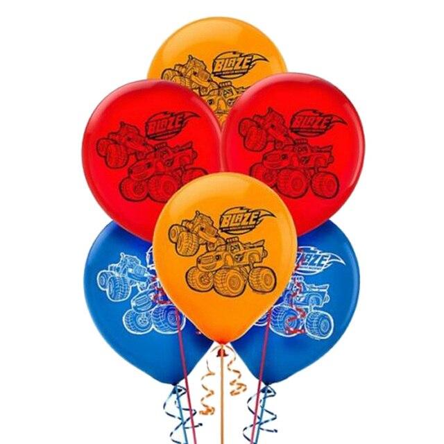 12 inç 12 adet/grup Blaze canavar lateks balon Globos doğum günü partisi malzemeleri dekorasyon çocuk oyuncakları