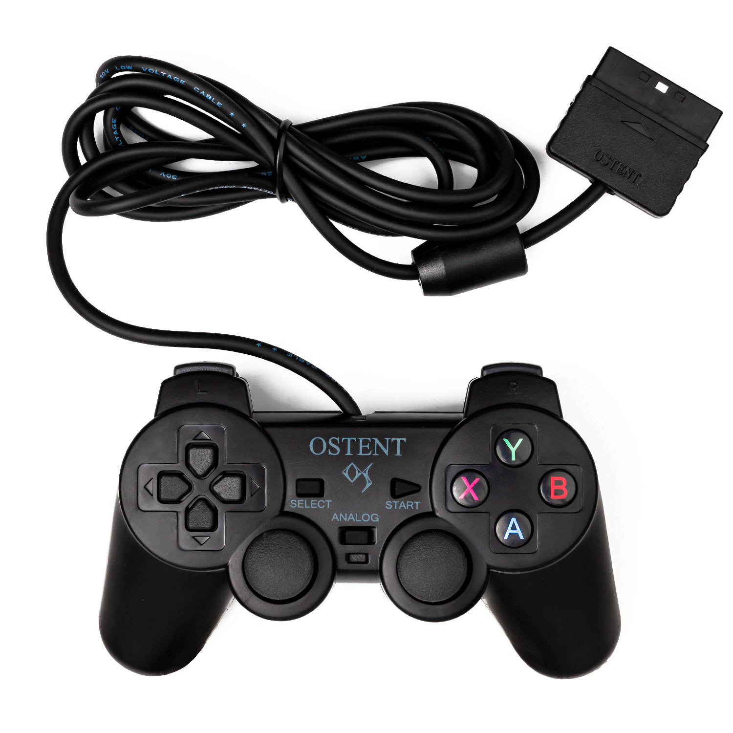OSTENT Wired Analog Controller Gamepad Joystick Joypad for Sony Playstation PS2 PS1 PS One PSX Console Dual Shock Vibration image