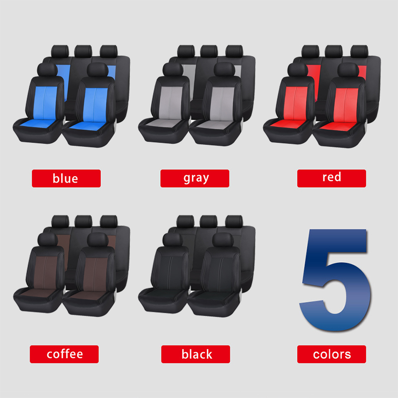 Brand PU Leather Car Seat Covers Universal Fit Most Car Covers Breathable Seat Protector Interior
