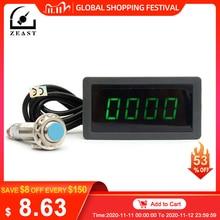 Toerenteller 4 Digitale Groene Led Tach Rpm Snelheid Meter Met Hal Naderingsschakelaar Sensor Npn 24V