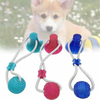 Dog Multifunction Biting Toys With Safe Elasticity And Suction Cup For Cat Puppy