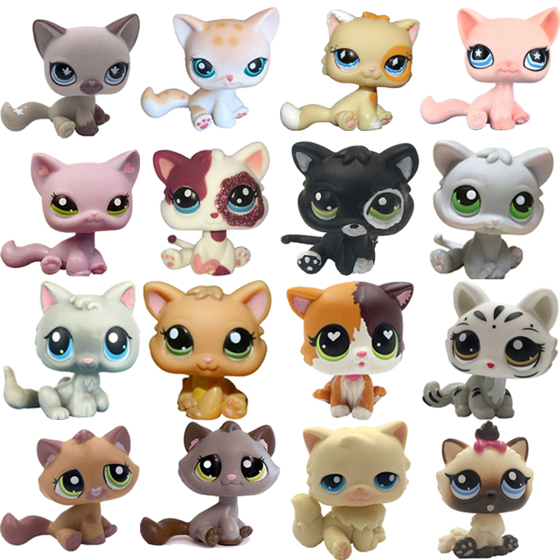 LPS CAT Rare Pet Shop Toys Stands Short Hair Kitten Dog Dachshund Collie Great Dane Spaniel Puppy Old Original Animal Collection