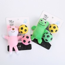 Pet Interactive Exercise Playing Cat Assorted Toys Set Multicolor Plush Animal Dolls And Foam Ball/Bell Ball For