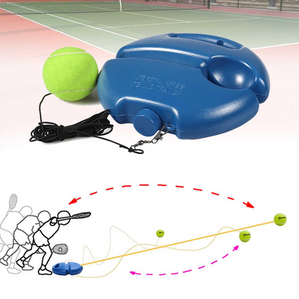 Egzersiz tenis topu tenis eğitim seti eğitim birincil aracı kendinden çalışma ribaund topu kapalı tenis uygulama aracı