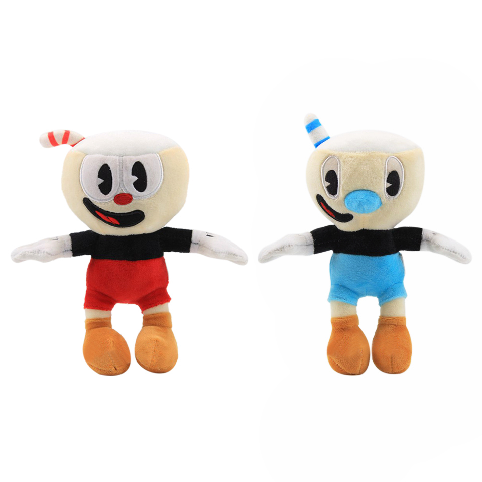 22cm Cuphead Plush Toy Mugman Plush Dolls Toys For Children Gifts