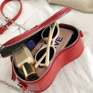 Image 5 - Women Purses And Handbag Fashion Red Love Heart Shape Shoulder Bag Women Chain Crossbody Bag Ladies Purse And Clutch Bag