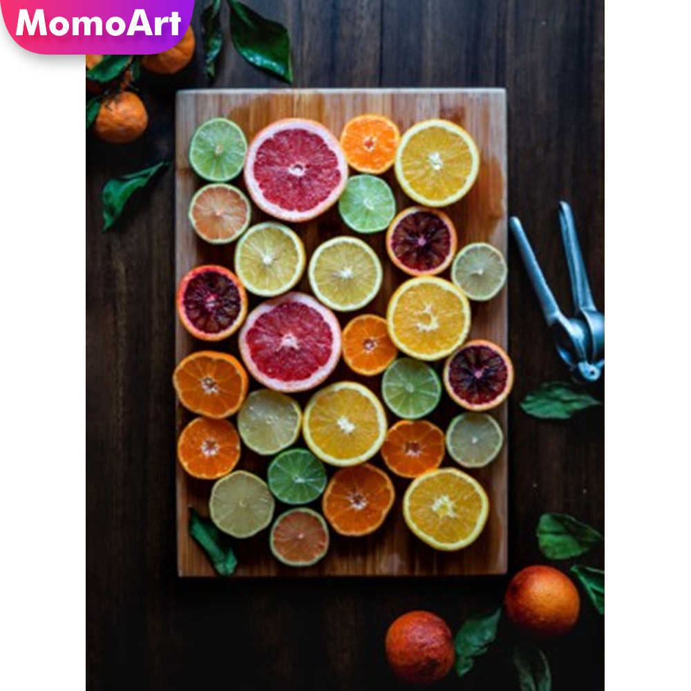 MomoArt New Diamond Paintings 5d Embroidery Cartoon 5D Mosaic Fruit Full Square Kitchen Decoration Gift