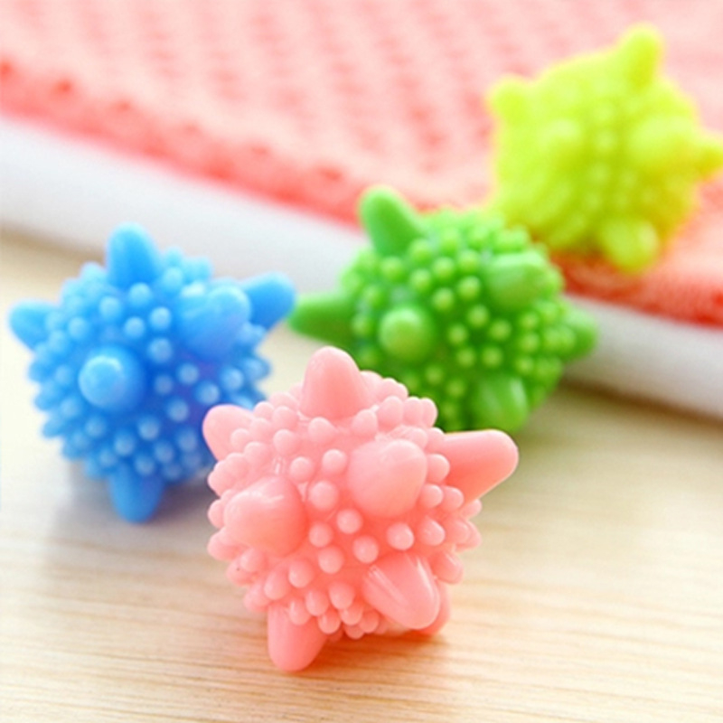 3Pcs Reusable Magic Laundry Ball For Household Cleaning Washing Machine Clothes Softener Starfish Shape Solid Cleaning Balls