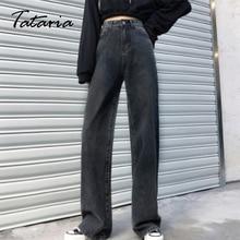Spring Jeans Wide Leg Black Women Pants Vintage Boyfriend Loose Fashion High Leisure