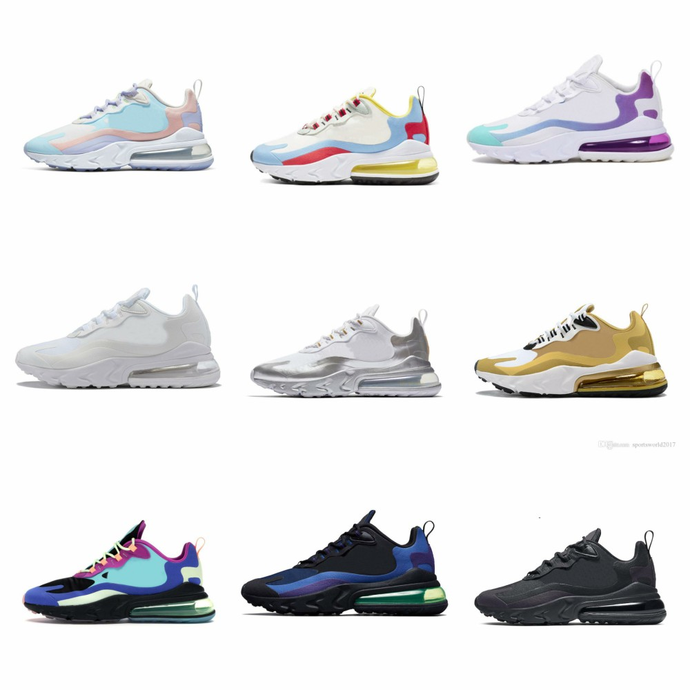 Hot React Men Running Shoes Bauhaus Homegrown Dusk Purple Script Sea Green BLEACHED CORAL Women Mens Trainers Athletic Sneakers