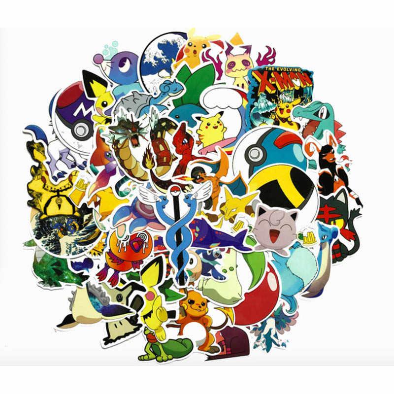 45 قطعة/المجموعة بوكيمون الذهاب بيكاتشو ملصق تأثيري اكسسوارات الدعامة PVC صائق للماء الكرتون جمع ملصقات