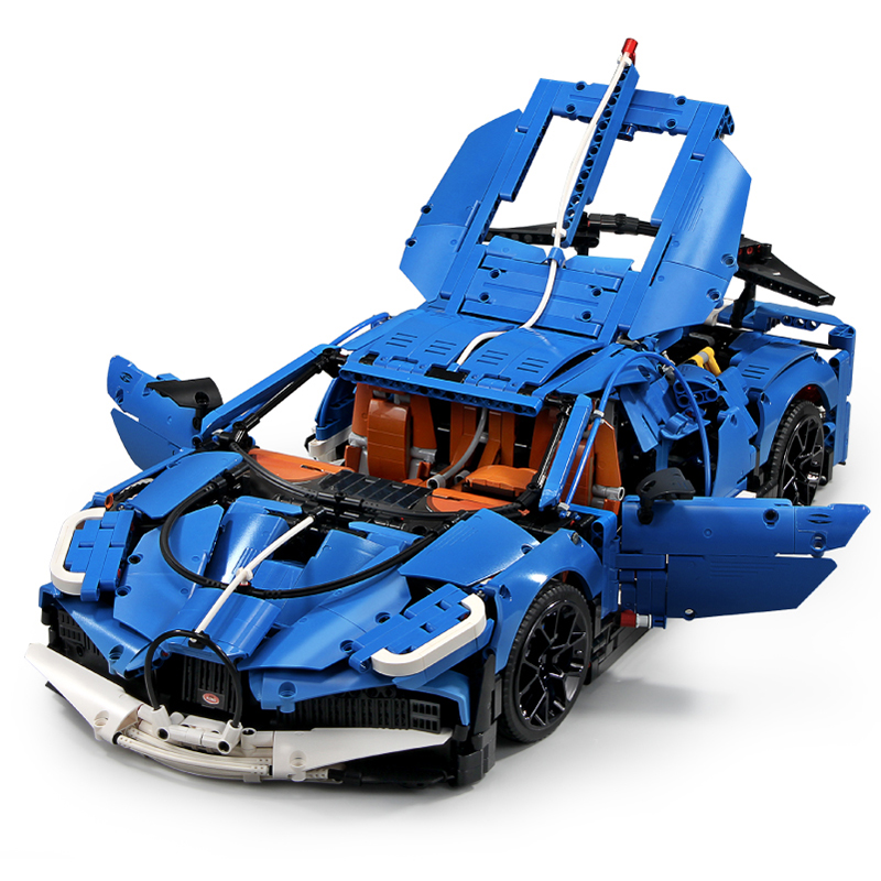 MOC City Technic série Bugattis Chiron bleu Sport voiture modèle Kit blocs de construction enfants jouets briques compatibles avec legoed 42083