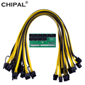 CHIPAL ATX 64Pin Power Modul 10 * 6Pin 9 * 6Pin Breakout-Board mit 6Pin 18AWG Power Kabel für HP 1200W 750W NETZTEIL GPU Miner Bergbau