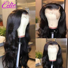 Celie Lace Front Human Hair Wigs Body Wave Pre Plucked 360 Lace Frontal Wig 150 180 250 Density Remy Brazilian Lace Front Wig