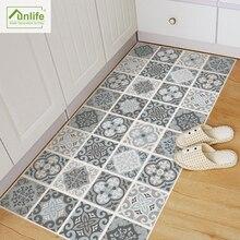 Funlife blue&grey mediterranean pattern geometry Removable anti-slip floor stickers art decal home room bathroom DIY decor DB019