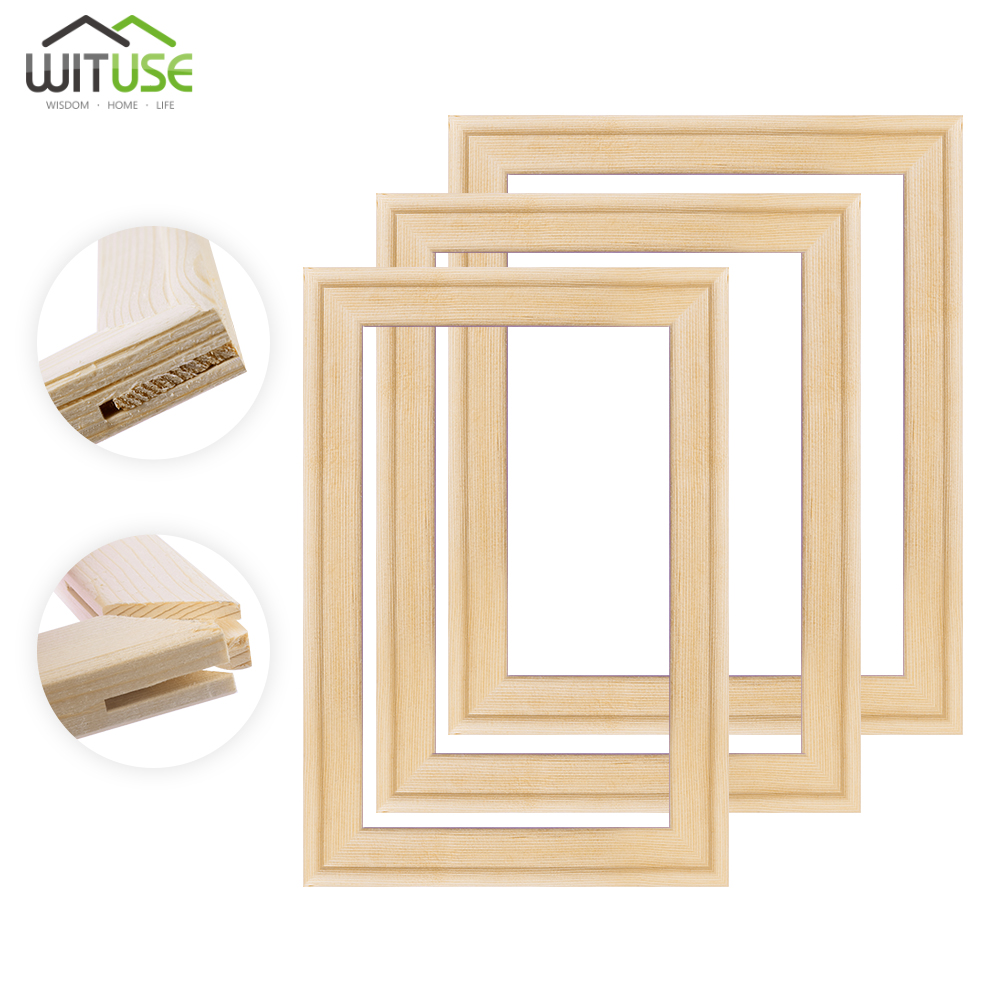 Wooden Canvas Frame Stretcher Bar DIY Solid Wood Art Frames for Painting Canvas