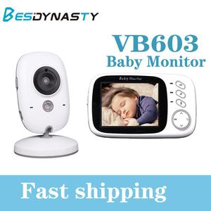 VB603 беспроводной цветной видеоняня 3,2 дюйма с высоким разрешением, ночное видение, контроль температуры, няня, камера безопасности