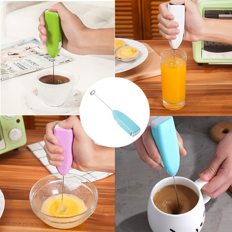 Mixer Hand Milk Foamer For Coffee Cappuccino Creamer Hot Chocolate Milk Jugs Kitchen Frother Whisk Frothy Blend Whisker