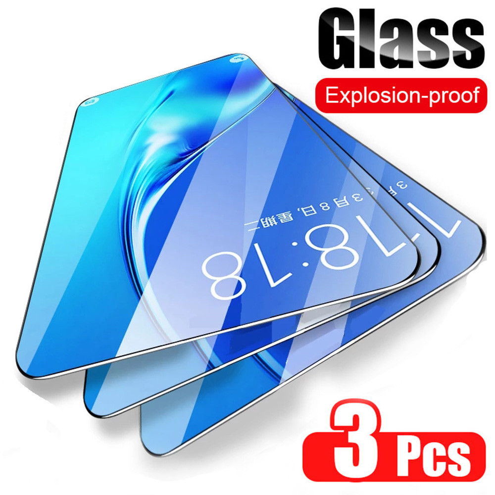3Pcs Screen Protector For Samsung Galaxy A7 2018 A6 A8 J4 J6 Plus 2018 Tempered Glass For Samsung A3 A5 A7 J3 J5 J7 2017 glass
