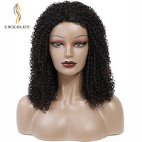 Curly Human Hair Wig 200% Density Afro Kinky Curly Hair Wigs Machine Made Short Bob Weave Remy Brazilian Curly Hair Wigs