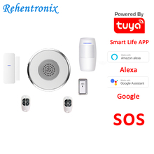 DIY Tuya Alexa Google Smart WiFi Alarm System kit SOS with APP Push and Calling Alarms, No Monthly Fee, Long-Term Contracts