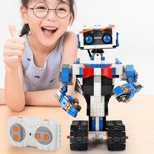 635PCS High-Tech 2.4G APP Remote Control Smart Programming R/C Robot Assemble Educational DIY Building Blocks STEM Brick Toys