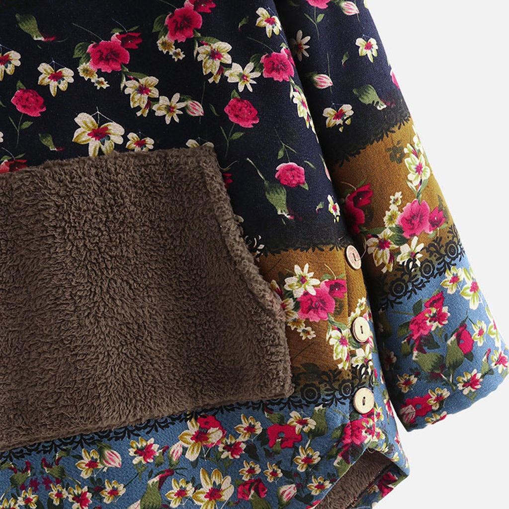 H4ab9e881ac324c0282d4171a4382fee6b Female Jacket Plush Coat Womens Windbreaker Winter Warm Outwear Retro Print Hooded Pockets Vintage Oversize Coats Plus Size 5XL