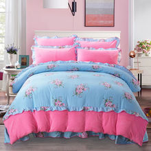 Evich Winter Thickened Products Flannel Four-piece Set AB Quilt Duvet Cover 1.8x 2m Plush Bed Sheet Thermal Bedding