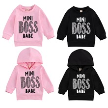 Sweatshirt Hoodies Baby-Girls Toddler Casual Print Tops Pullover Letter Long-Sleeve Autumn