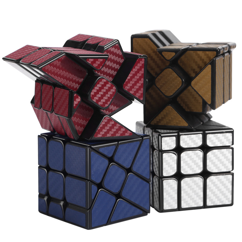 Moyu Cubing Classroom Carbon Fiber Cube Hotwheel Funny Twisted Magic Cube Puzzle Toy For Challange - Red