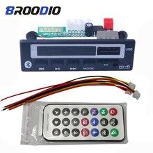 MP3 WMA WAV Bluetooth 5.0 płyta dekodera 5V 12V bezprzewodowy moduł Audio kolorowy ekran USB TF Radio FM dla samochodów odtwarzacz MP3 akcesoria