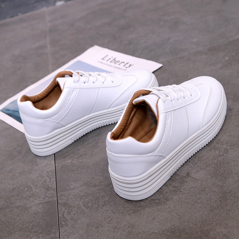 Fashion Ladies Sneakers 2020 Leisure White Canvas Lace Up Women's Shoes  Basket Snakes Flat Shoes Size 35-39 Ladies Tennis Shoes