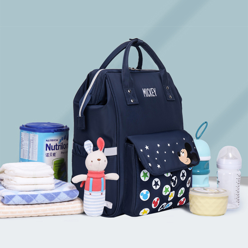 Image 2 - Disney Diaper Backpack Baby Bags for Mom Mickey Minnie Wet Bag Fashion Mummy Maternity Diaper Organizer Travel USB Nappy TravelDiaper Bags   -
