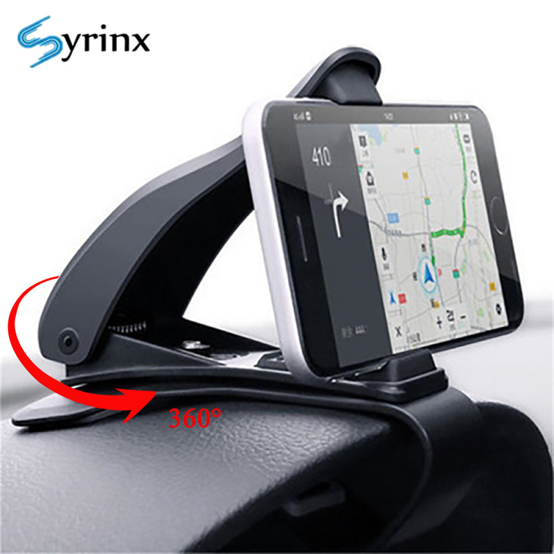 Syrinx Car Dashboard Phone Holder Stand Universal Car Cellphone Support 360 Rotation For Iphone X XR XS Samsung Smartphone Mount