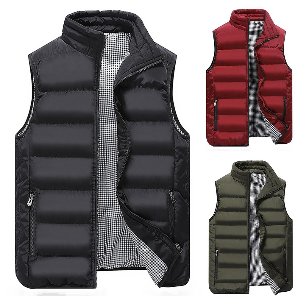 Brand Clothing Vest Jacket Mens New Autumn Warm Sleeveless Jacket Male Winter Casual Waistcoat Men Vest Plus Size