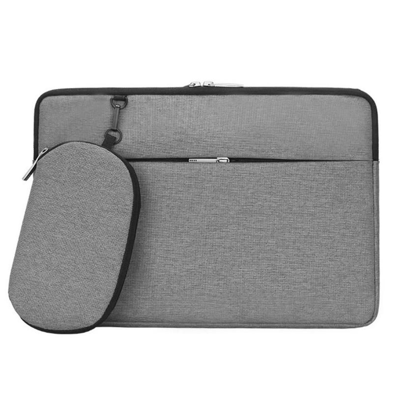 VKTECH Portable Laptop Bag <font><b>Pouch</b></font> Carrying Case <font><b>15.6</b></font> inch <font><b>Notebook</b></font> PC Travel Handbag Briefcase with Mouse Bag Multifunctional image