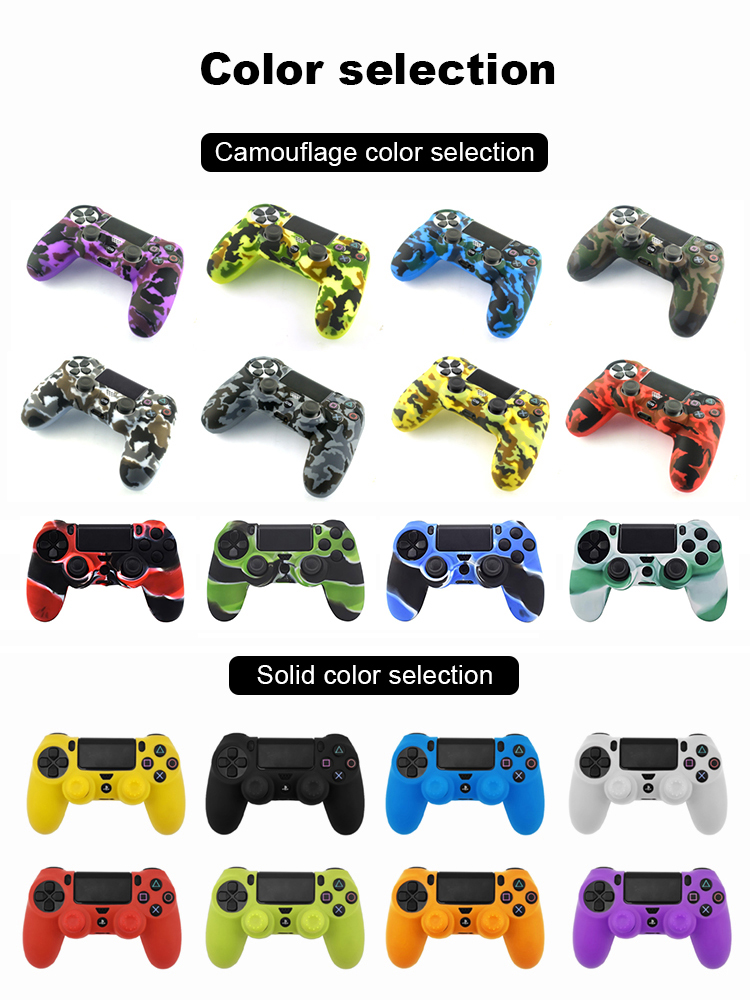Soft Flexible Cover Silicone Case Protection Skin For Playstation 4 PS4 Pro Slim