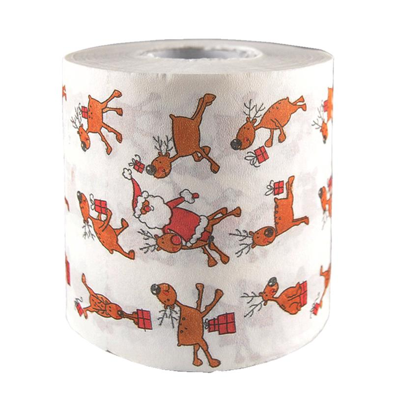 Printed Toilet Papers Funny Elk Paper Roll Of Christmas Theme Paper Tissue Roll