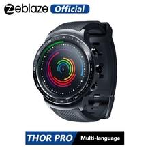Zeblaze thor pro relógio inteligente, 3g, gps, tela 1.53 polegadas, android 5.1, mtk6580, 1.0ghz, 1gb + 16gb dispositivos vestíveis bt 4.0