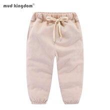 Mudkingdom/комплекты однотонный Цвет льняные детские штаны длиной