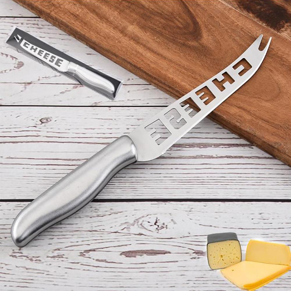 1 шт. нож для сыра из нержавеющей стали с вилочным наконечником зубчатый нож для сыра и масла нож для резки сыра
